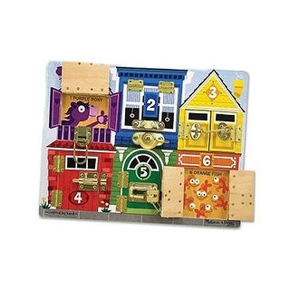 Melissa & Doug(R) Deluxe Latches Board