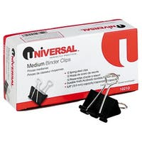 Universal 12Pk Medium Binder Clip