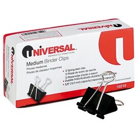 Universal 12Pk Medium Binder Clip