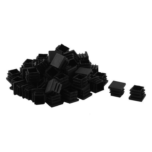 Home Plastic Chair Tube Insert End Blanking Cover Cap 19 x 19mm 60pcs Black