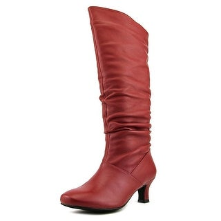 "Array Groove 14"" Women W Round Toe Leather  Boot"