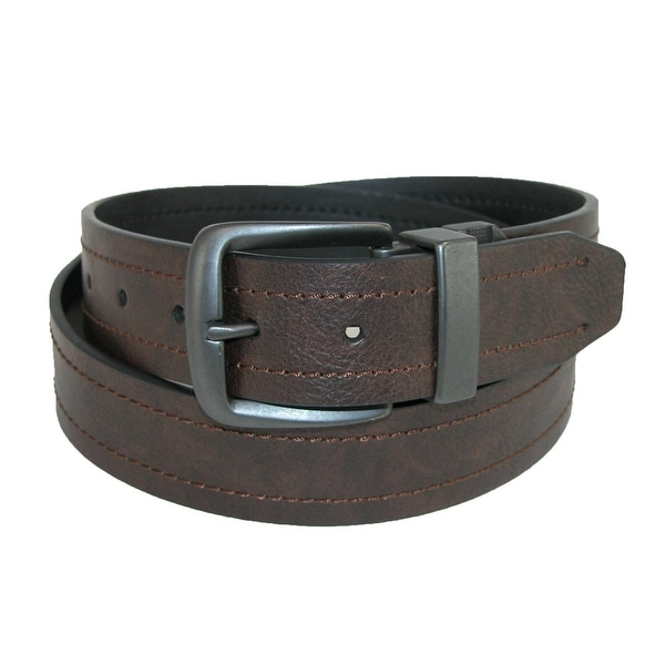 Dickies Men's 38mm Reversible Cut Edge Belt with Gunmetal Buckle