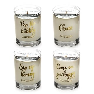 Peach and Vanilla Scented Luxurious Candles - 11 Oz (4 candle set)