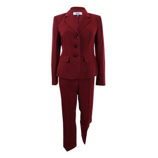 Le Suit Women's Petite Three-Button Pantsuit