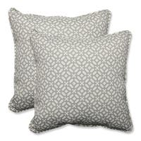 "Set of 2 Pebble Geo Star Throw Pillow 18.5"" - White"