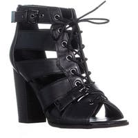 G by Guess Portlyn Lace Up Heeled Sandals, Black