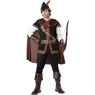 InCharacter Forest Robin Hood Adult Costume - Green/brown