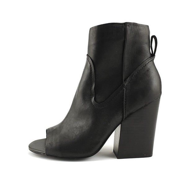 Steve Madden Womens Veronah Leather Open Toe Ankle Fashion Boots - 5.5