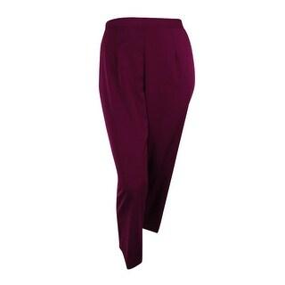 Alfred Dunner Women's Plus Sierra Madre Pull-On Straight-Leg Pants - Wine