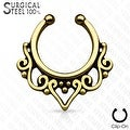 316L Surgical Steel Fake Septum Hanger Tribal Fan (Sold Ind.) - Thumbnail 2