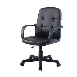 Costway PU Leather Ergonomic Midback Executive Computer Best Desk Task Office Chair