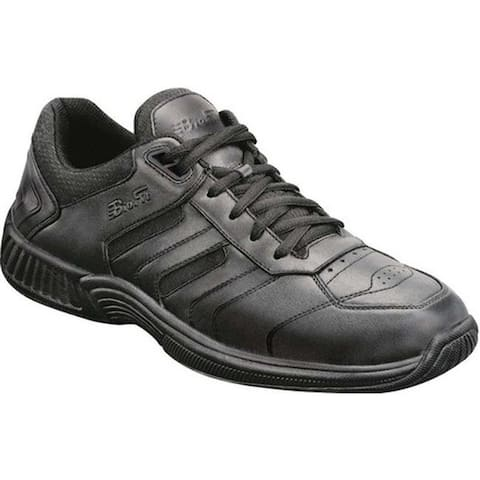 Orthofeet Men's Pacific Palisades Black Leather