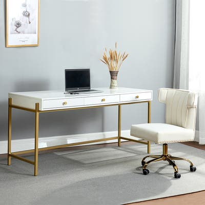 Tanisha Writing Desk with Drawers for The Office