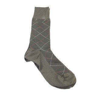 Perry Ellis Portfolio Brown Printed Socks 6.5-12