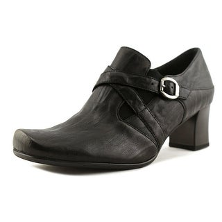 Gabor 76.154 Women W Square Toe Leather Black Loafer