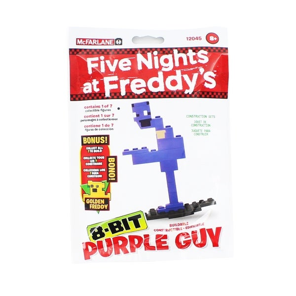 Five Nights at Freddy's 8-Bit Buildable Figure: Purple Guy - Multi