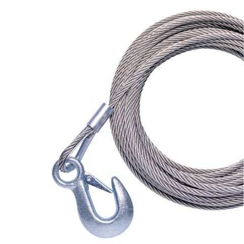 Powerwinch cable 40' x 7/32 w/ hook galvanized