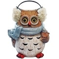 "Alpine USA1342 Christmas Decoration Winter Owl Statue, 10"" - Thumbnail 0"