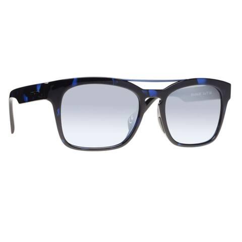 Italia Independent I-I Mod I-I MOD 0914 DHA 022 Unisex Blue Havana Frame Silver Mirror Lens Sunglasses