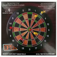 Daily Basic Realistic Magnetic 16 Inches Dartboard Game and Decoration With Non Damaging Darts