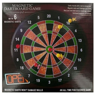 Daily Basic Realistic Magnetic 16 Inches Dartboard Game & Decoration With Non Damaging Darts