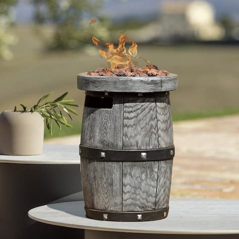 Outdoor Lightweight Concrete Tabletop Fire Pit