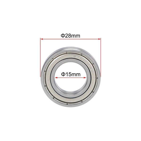 15mm*28mm*7mm 2PCS 6902ZZ Deep Groove Metal Double Shielded Ball Bearing