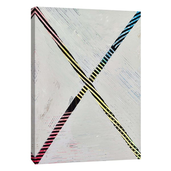 """PTM Images 9-108848 PTM Canvas Collection 10"""" x 8"""" - """"Lenticular F"""" Giclee Abstract Art Print on Canvas"""