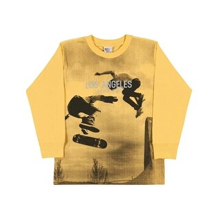 Boys Long Sleeve Shirt Skater Graphic Tee Kids Pulla Bulla Sizes 2-10 Years