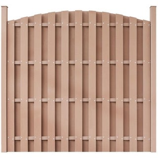 vidaXL WPC Fence Panel Round Brown