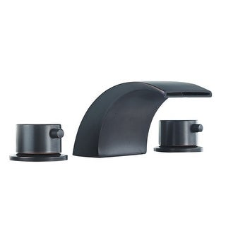 DFI 8-16 Inch Led Waterfall Widespread Commercial Bathroom Sink Faucet 2 Handles 3 Holes
