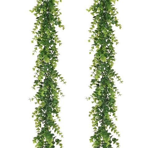 2 Pack Fake Eucalyptus Greenery Garland Hanging Vine Plant