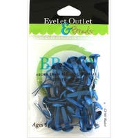 Eyelet Outlet Round Brads 8mm 40/Pkg-Dark Blue