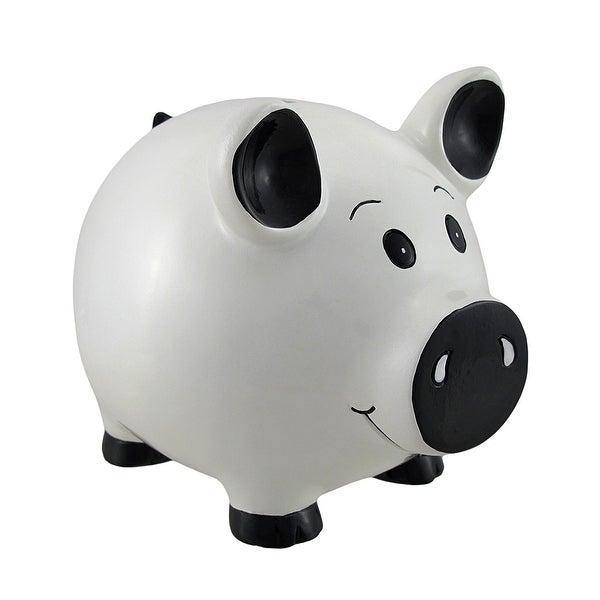 White Piggy Coin Savings Piggy Bank. Opens flyout.