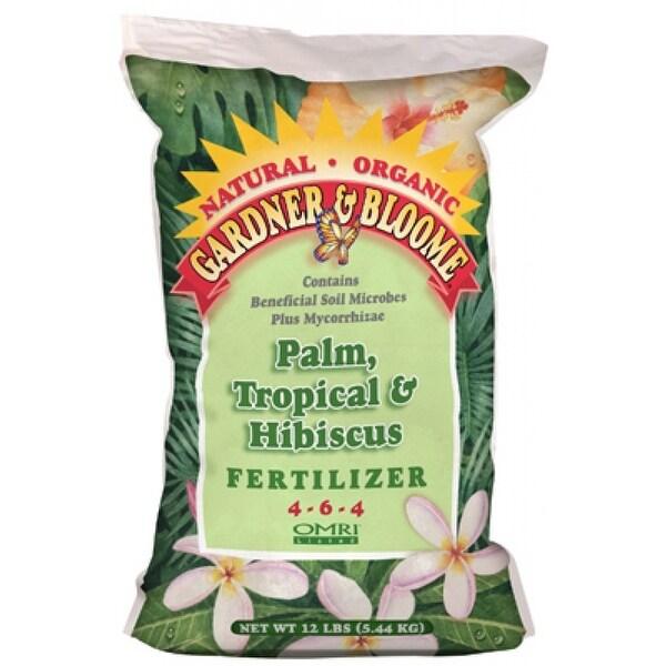 Gardner & Bloome 8651 Palm, Tropical & Hibiscus Fertilizer 12 lb, 4-6-4