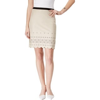 Karen Kane Womens Pencil Skirt Faux Suede Mini