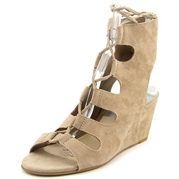 Dolce Vita Louise Women Open Toe Suede Nude Sandals