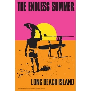 Long Beach Island, New Jersey - The Endless Summer - Original Movie Poster (Acrylic Serving Tray)