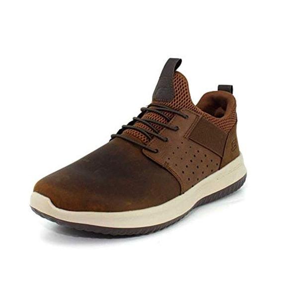 Skechers Mens Delson Axton Charcoal Dark Brown Sneaker 8