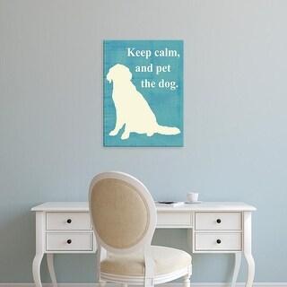 Easy Art Prints Vision Studio's 'Keep calm and pet the dog' Premium Canvas Art