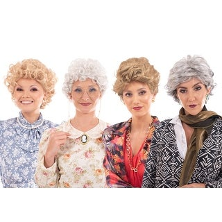 Golden Girls Complete Wig Set   Golden Girls Cosplay Wigs   Sized For Adults - Multi