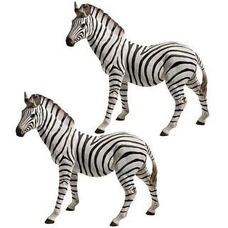 Design Toscano Zora, the Zebra Statues: Set of Two