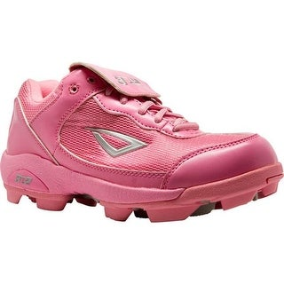 3N2 Children's Rookie Elite Baseball Cleat Pink Synthtic Leather/Mesh