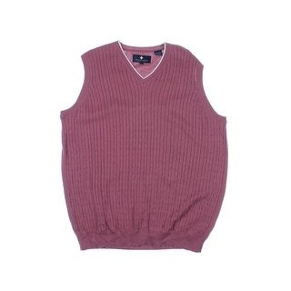 Argyle Culture Mens Cable Knit V-Neck Sweater Vest - XL