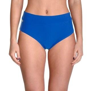 It Figures! Womens Solid High Waist Swim Bottom Separates