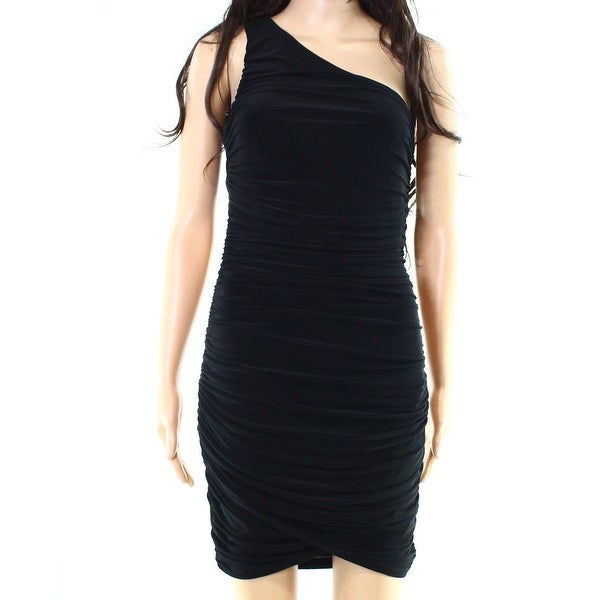 31523f5cbcbc2 Shop Soprano Deep Black Womens Size Medium M Ruched Stretch Bodycon ...