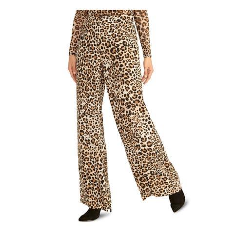 RACHEL ROY Womens Brown Zippered Animal Print Pants Size 2