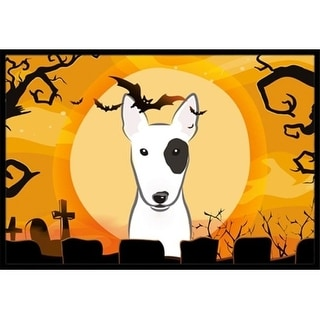 Carolines Treasures BB1767JMAT Halloween Bull Terrier Indoor & Outdoor Mat 24 x 36 in.