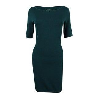 Ralph Lauren Women's Bodycon Sheath Dress - Woodland Green