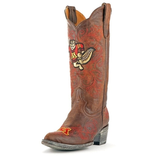 Gameday Boots Womens College Minnesota Golden Gophers Brass